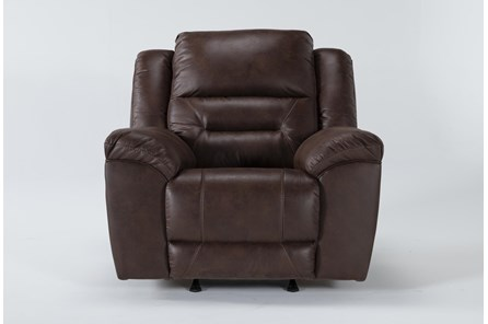Stoneland Chocolate Rocker Recliner - Main