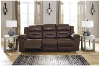 "Stoneland Chocolate 93"" Reclining Sofa"
