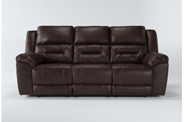 "Stoneland Chocolate 93"" Reclining Sofa"