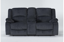 "Oakhurst Slate 76"" Reclining Loveseat With Console"