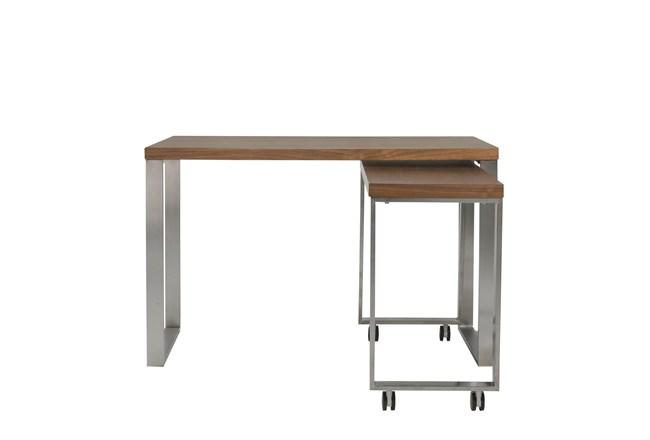 "Del Mar Walnut Corner 48"" Desk - 360"