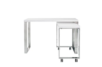 "Del Mar White Corner 48"" Desk"