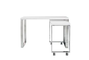 "Del Mar White Corner 48"" Desk"