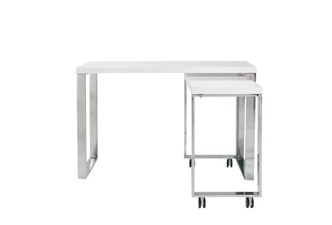 "Del Mar White Corner 48"" Desk - 360"
