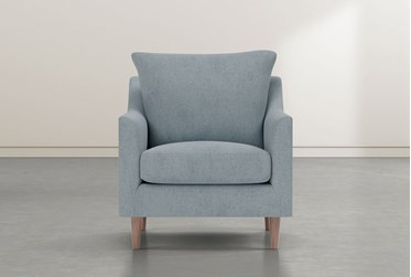 Zoe Blue Accent Chair