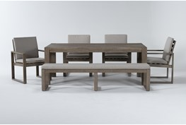 Malaga Outdoor 6 Piece Dining Set With Arm Chairs