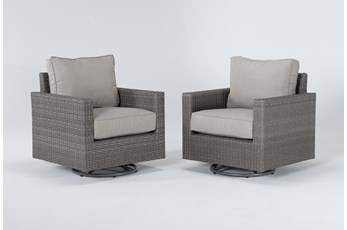 Mojave Outdoor 2 Piece Swivel Lounge Chair Set