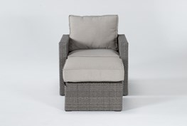 Mojave Outdoor Lounge Chair And Ottoman