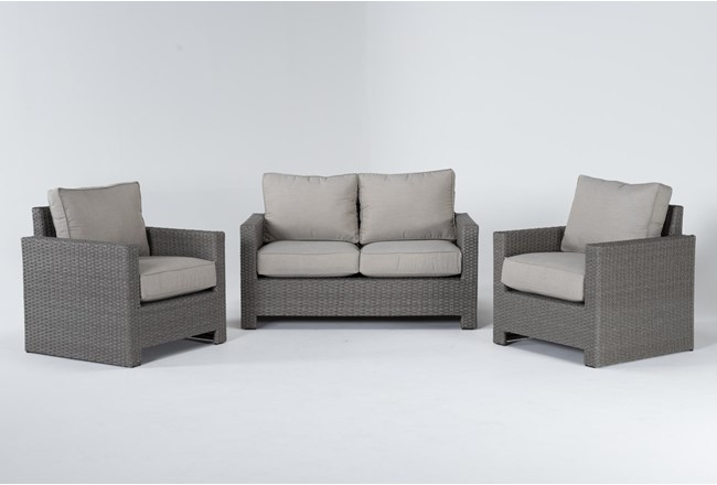Mojave Outdoor Loveseat With 2 Lounge Chairs - 360