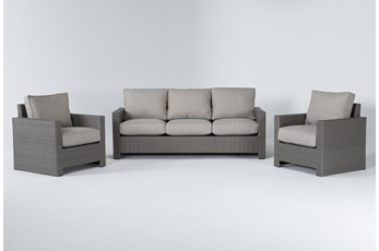 Mojave Outdoor Sofa With 2 Lounge Chairs