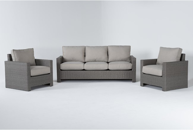 Mojave Outdoor Sofa With 2 Lounge Chairs - 360