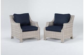 Chesapeake Outdoor 2 Piece Lounge Chair Set