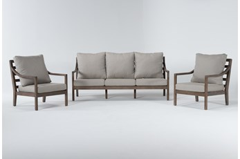 Catalina Outdoor 3 Piece Lounge Set