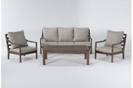 Catalina Outdoor 4 Piece Lounge Set
