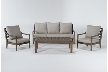 Catalina Outdoor 4 Piece Lounge Set