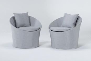 Ravelo Outdoor 2 Piece Swivel Lounge Chair Set