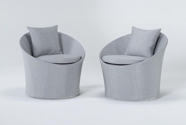 Ravelo Outdoor 2 Piece Swivel Lounge Chair Set - 360