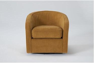 Dani Marigold Swivel Accent Chair