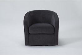 Dani Dark Grey Swivel Accent Chair