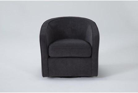 Dani Dark Grey Swivel Accent Chair - Main