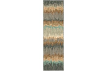 28X94 Rug-Gradient Abyss Blue