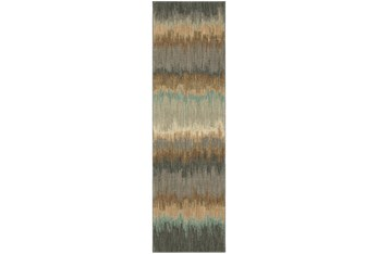 """2'4""""x7'8"""" Rug-Gradient Abyss Blue"""