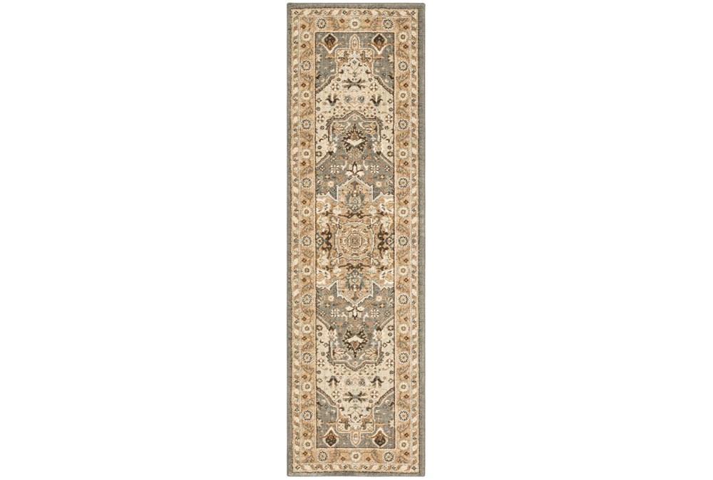 "2'4""x7'8"" Rug-Ornate Tapestry Grey"