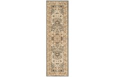 "2'4""x7'8"" Rug-Ornate Tapestry Grey"