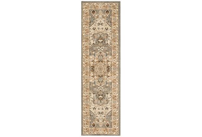 "2'4""x7'8"" Rug-Ornate Tapestry Grey - 360"