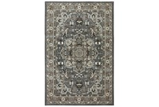 "3'5""x5'5"" Rug-Ornate Tapestry Grey"