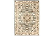"9'5""x12'9"" Rug-Ornate Tapestry Grey"