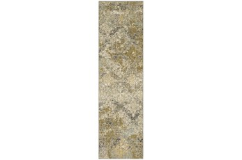 28X94 Rug-Woven Abstract Beige