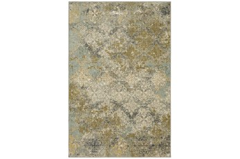 63X94 Rug-Woven Abstract Beige