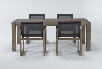Malaga Outdoor 5 Piece Dining Set With Sling Back Chairs