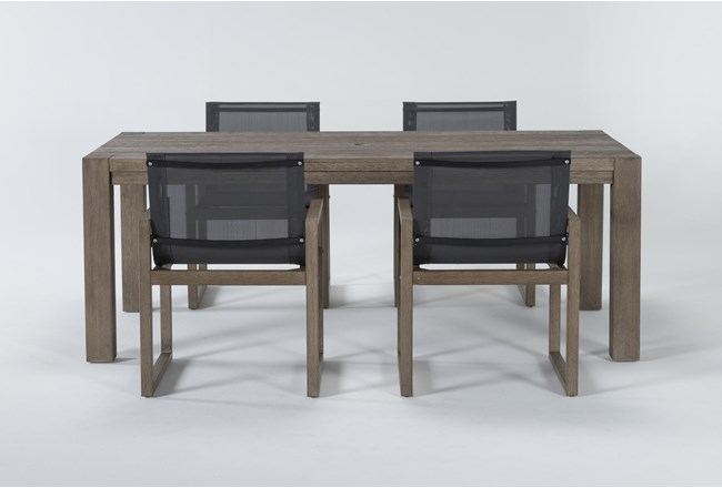 Malaga Outdoor 5 Piece Dining Set With Sling Back Chairs - 360