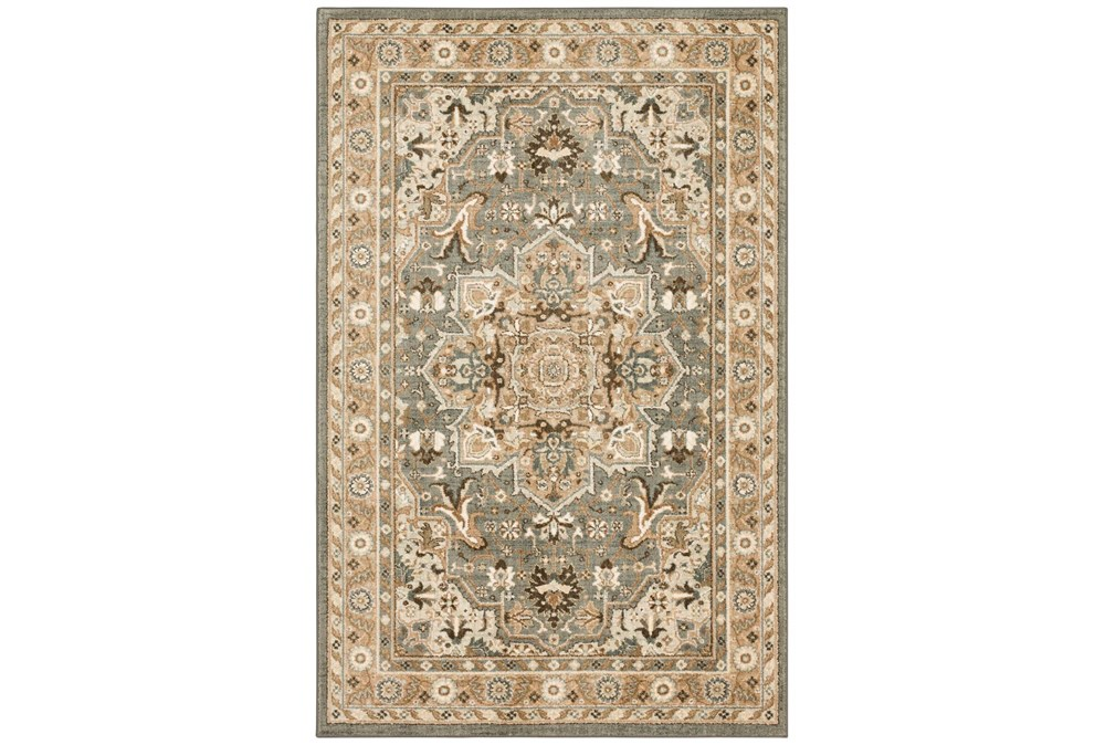 "5'3""x7'8"" Rug-Ornate Tapestry Grey"