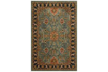 "3'4""x5'4"" Rug-Grand Border Aquamarine"