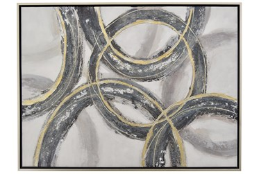 Picture-36X47 Charcoal And Gold Linked Rings