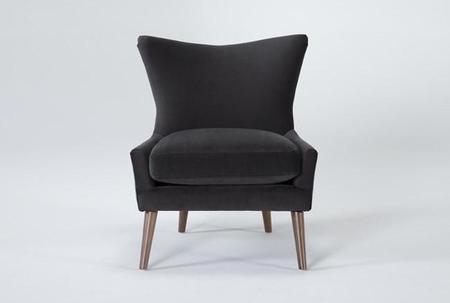 Tate IV Gunmetal Accent Chair - 360