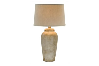 31 Inch Sand Stone Finish Table Lamp