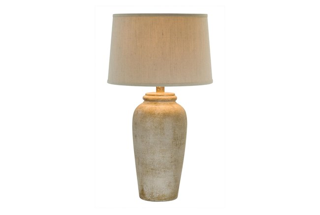 31 Inch Sand Stone Finish Table Lamp - 360