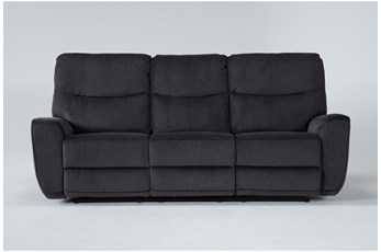 "Ronan Steel 87"" Power Reclining Sofa"