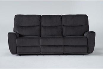 "Ronan Steel 87"" Power Reclining Sofa"