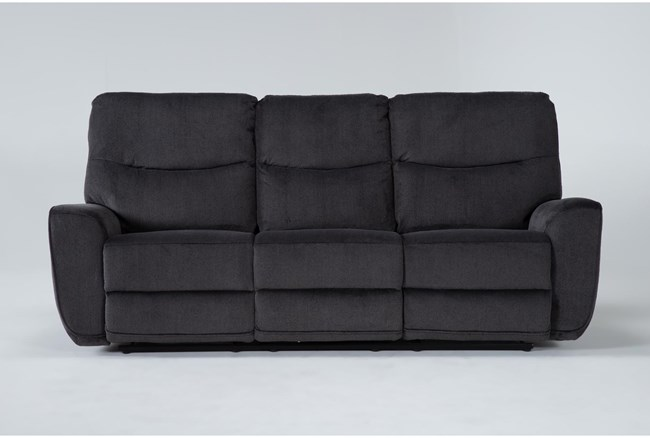 "Ronan Steel 87"" Power Reclining Sofa - 360"