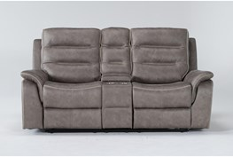 """Sirus 76"""" Power Reclining Loveseat With Console"""