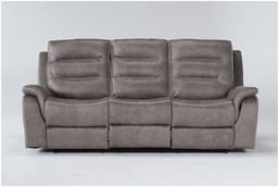 "Sirus Grey 87"" Power Reclining Sofa"