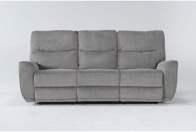 "Ronan Oatmeal 87"" Power Reclining Sofa - 360"