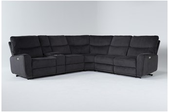 "Ronan Steel 6 Piece 127"" Power Reclining Sectional"