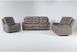Sirus 3 Piece Power Reclining Living Room Set