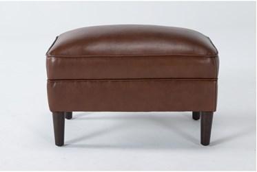 Tara Leather Ottoman